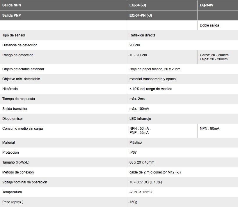 EQ-30 sun especificaciones