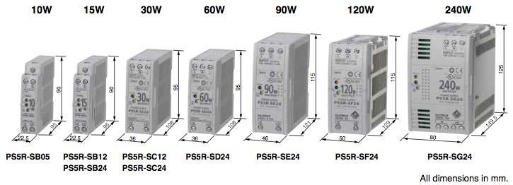 PS5R-S fuente alimentacion idec estrecha