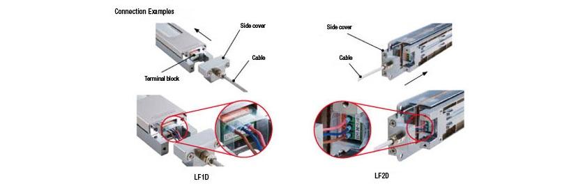 LF1D LF2D Iluminacion LED IDEC cableado